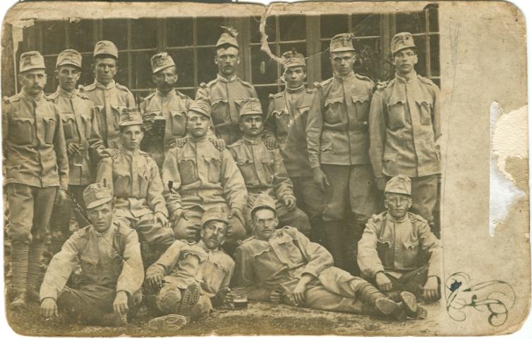711 Leski rudarji pred odhodom v vojsko 1915 1916 (Small)